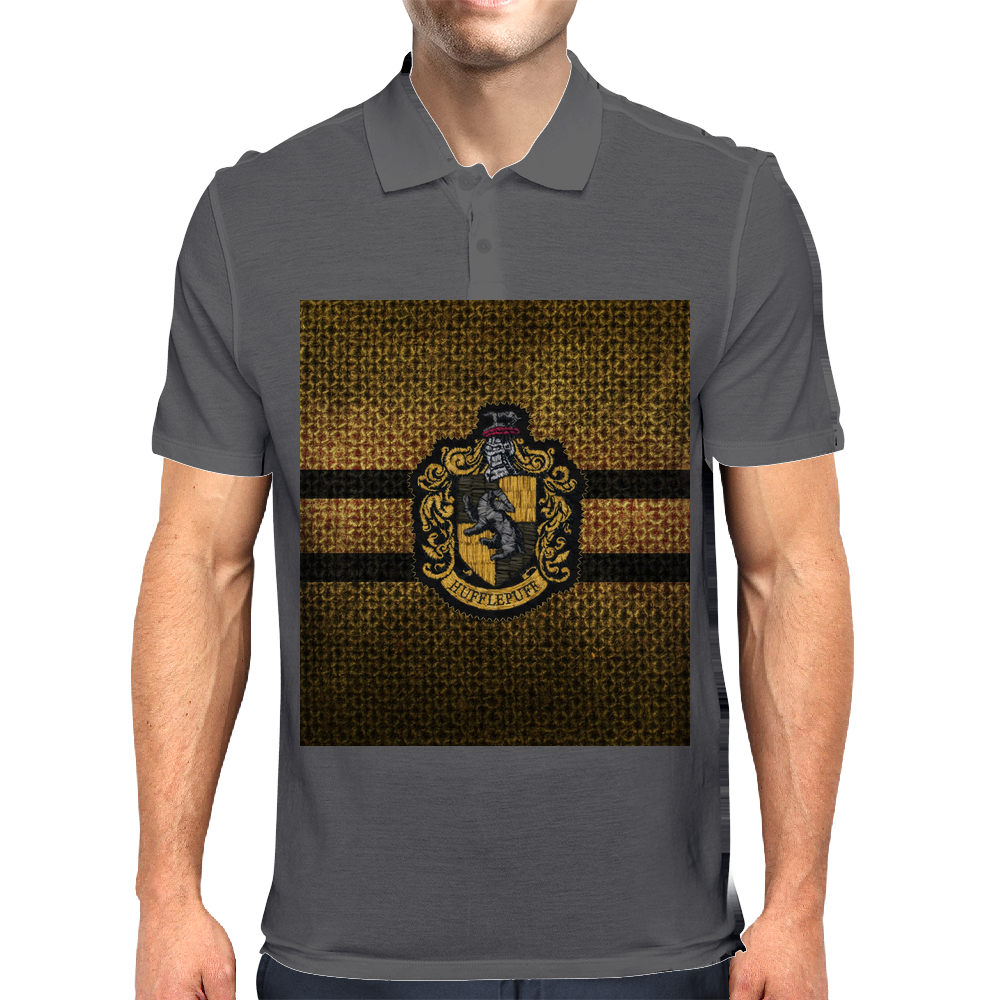 Hufflepuff Knitted Mens Polo