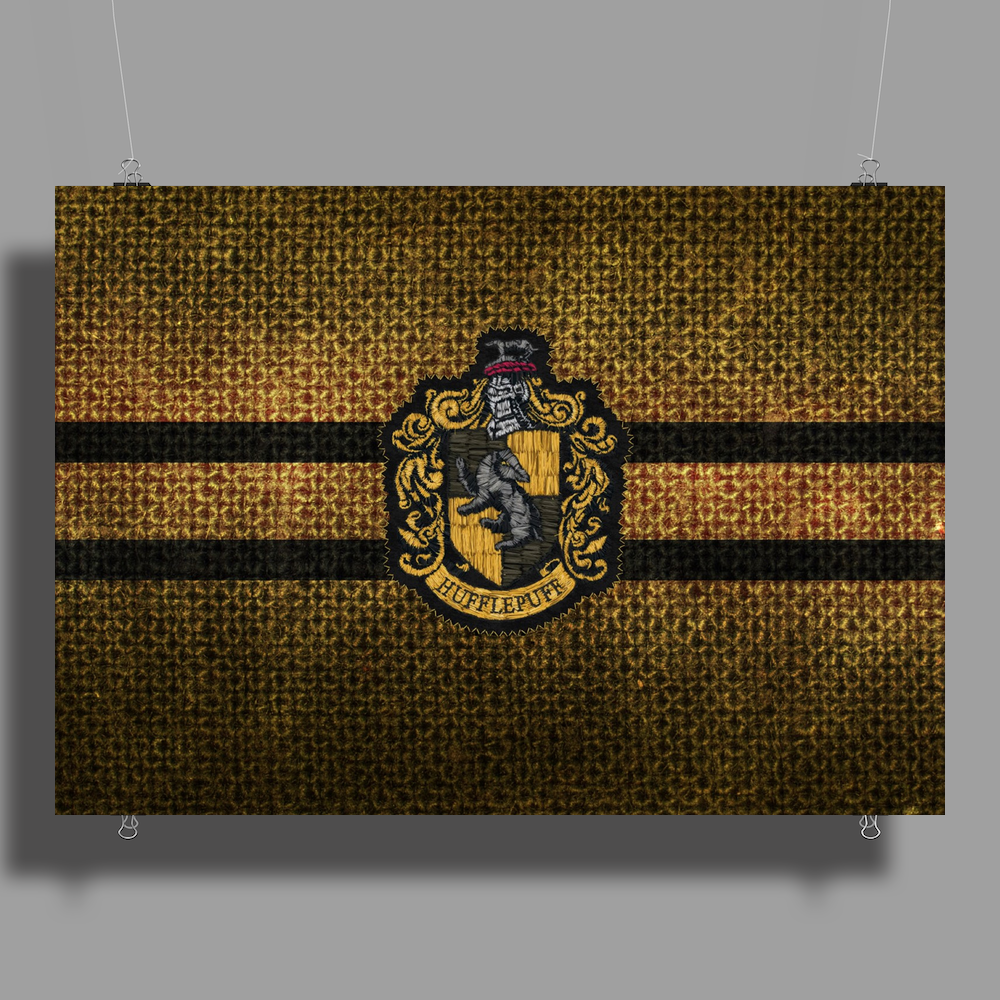 Hufflepuff Knitted Poster Print (Landscape)