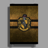 Hufflepuff Knitted Poster Print (Portrait)