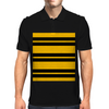 Hufflepuff Stripes - Thick Mens Polo