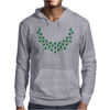 Hugs and Kisses Emerald and Diamond Necklace Mens Hoodie