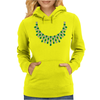 Hugs and Kisses Emerald and Diamond Necklace Womens Hoodie