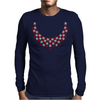 Hugs and Kisses Ruby and Diamond Necklace Mens Long Sleeve T-Shirt