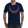 Hugs and Kisses Ruby and Diamond Necklace Mens T-Shirt