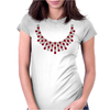 Hugs and Kisses Ruby and Diamond Necklace Womens Fitted T-Shirt