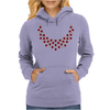 Hugs and Kisses Ruby and Diamond Necklace Womens Hoodie