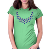 Hugs and Kisses Sapphire and Diamond Necklace Womens Fitted T-Shirt