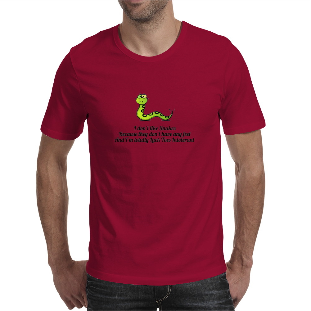 humour funny comedy I don't like snakes Mens T-Shirt
