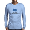 HUMOUR FUNNY SATIRE EVEN YOUR SAINTED OLD GRANNY SAYS ,,COCKSUCKER! WHEN SHE STEPS ON A LEGO BLOCK Mens Long Sleeve T-Shirt