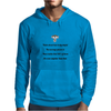 humour funny satire THINK ABOUT HOW TRULY STUPID THE AVERAGE PERSON IS THEN REALIZE THAT 50% OF THEM Mens Hoodie