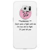 HUMOUR FUNNY SATIRE ***WARNING*** DON'T PICK A FIGHT WITH ME I'M TOO OLD I'LL JUST KILL YOU Phone Case
