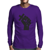 Husband Revolution Cross In Fist Mens Long Sleeve T-Shirt