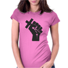Husband Revolution Cross In Fist Womens Fitted T-Shirt