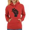 Husband Revolution Cross In Fist Womens Hoodie