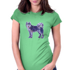Husky Lowpoly Womens Fitted T-Shirt