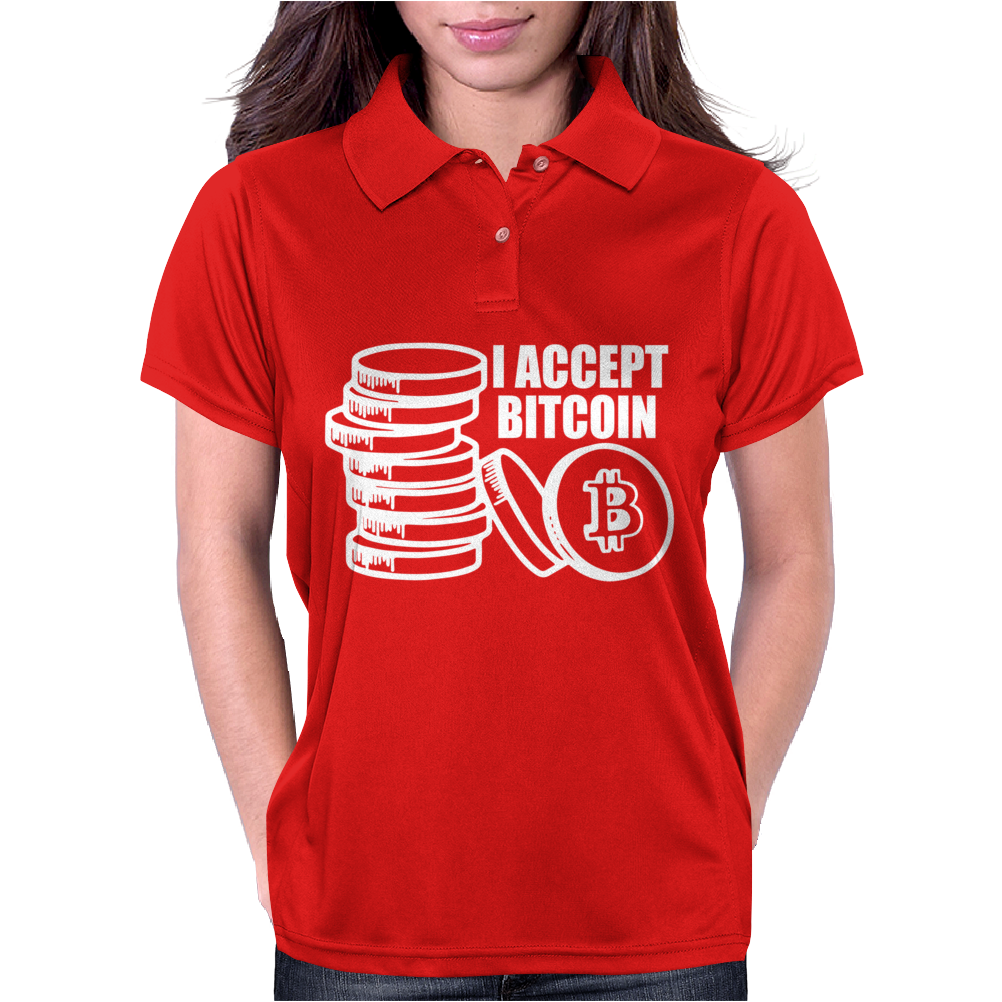 I accept Bitcoin Womens Polo