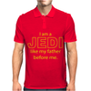I Am A Jedi Like My Father Before Me Mens Polo
