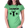 I AM CHAMPION Womens Fitted T-Shirt