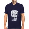 I Am Groot Face Mens Polo
