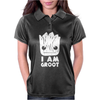 I Am Groot Face Womens Polo