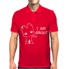 I AM GROOT' Guardians of the Galaxy Movie Funny Baby Groot Mens Polo