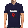 I am here! Google Maps Mens Polo