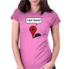 I am here! Google Maps Womens Fitted T-Shirt
