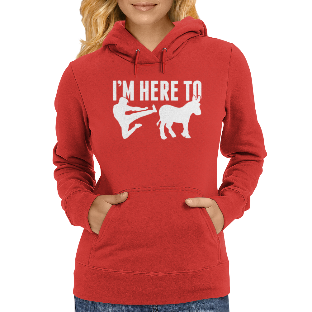 I am here to dunky Womens Hoodie