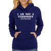 I am not a Terrorist Just Bearded Womens Hoodie