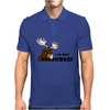 I am Not Amoosed Angy Moose Mens Polo