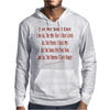 I Am Not Sure I Exist (Female) Mens Hoodie
