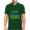 I Bleed Blue and Green Mens Polo