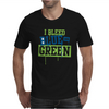 I Bleed Blue and Green Mens T-Shirt