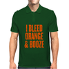 I Bleed Orange and Booze Mens Polo