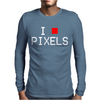 I Block Pixels Mens Long Sleeve T-Shirt