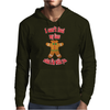 I can't feel my face when I'm with you - funny gingerbread man Mens Hoodie