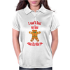 I can't feel my face when I'm with you - funny gingerbread man Womens Polo