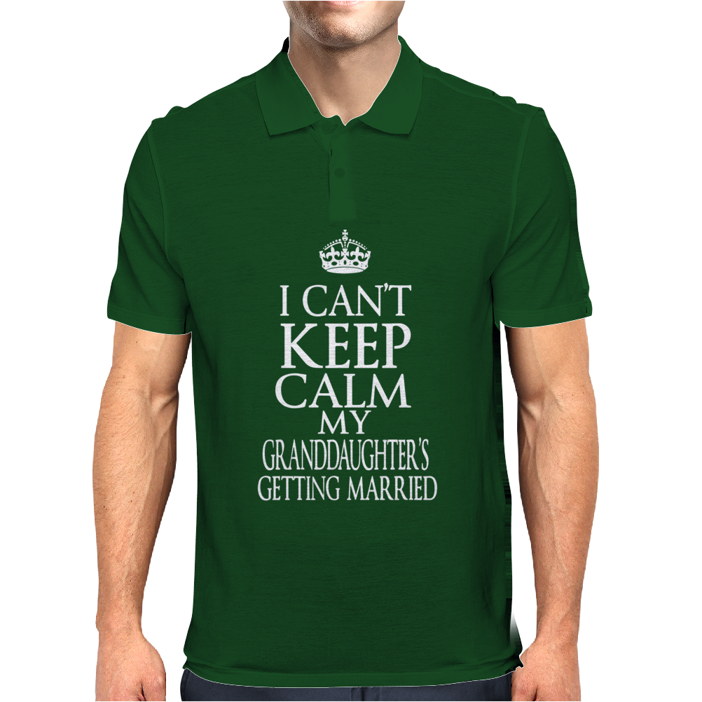 I Can't Keep Calm My Granddaughter's Getting Married Mens Polo