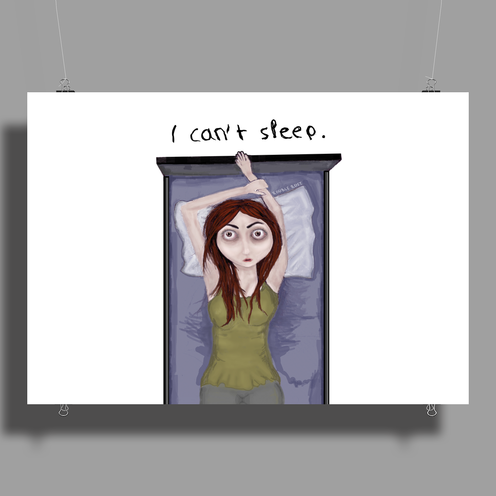 I can't sleep. by Rouble Rust Poster Print (Landscape)