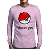 I choose you - pokemon Mens Long Sleeve T-Shirt