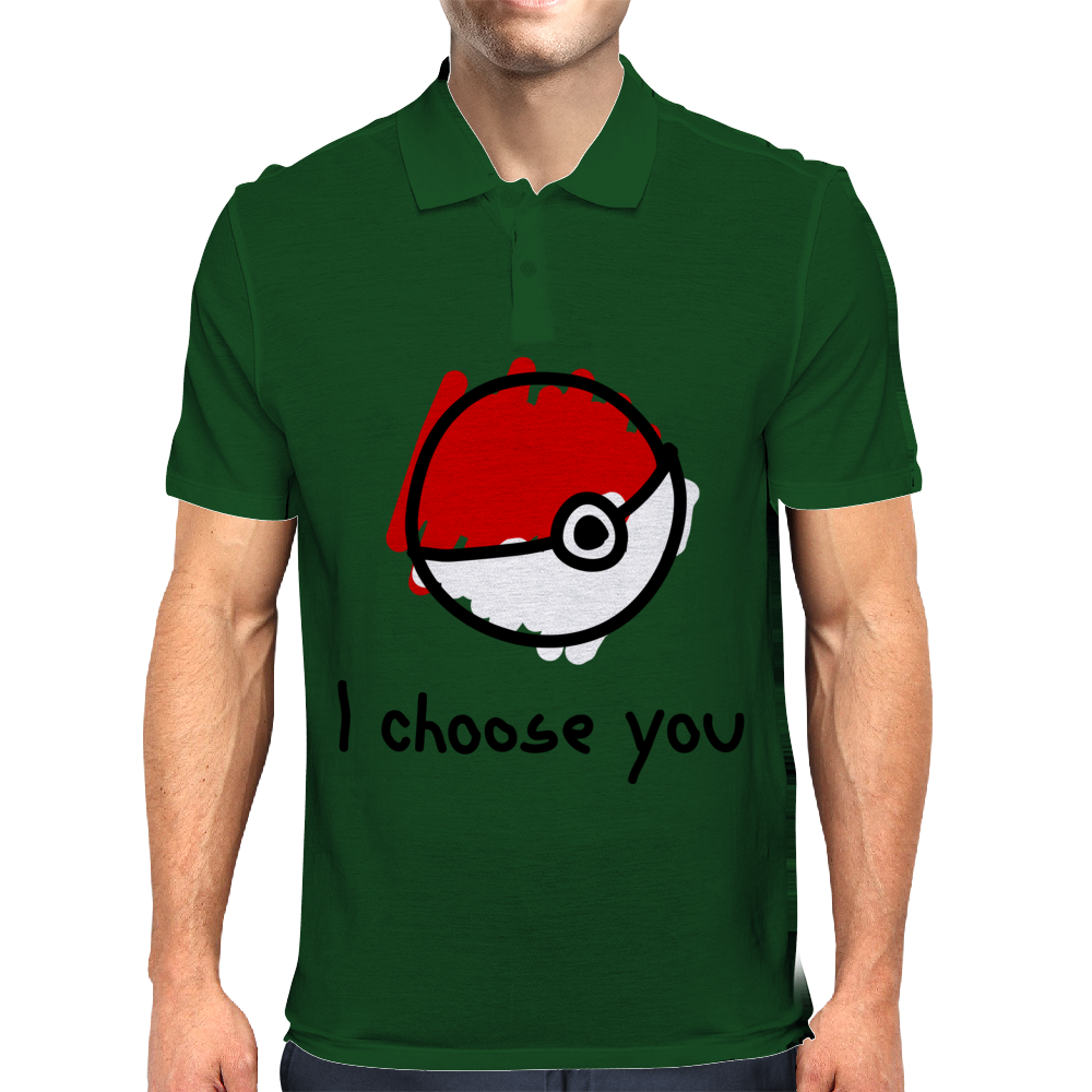 I choose you - pokemon Mens Polo