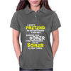 I DON'T PRETEND TO BE ANYTHING EXCEPT SOBER Womens Polo