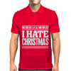 I Hate Christmas Mens Polo