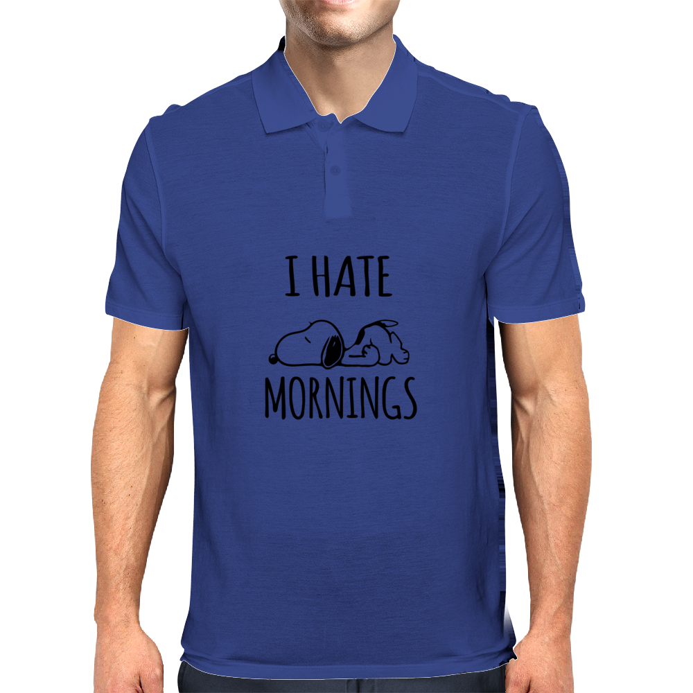 I Hate Mornings Mens Polo