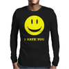 I Hate You Smiley Mens Long Sleeve T-Shirt
