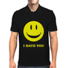 I Hate You Smiley Mens Polo