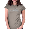 I have CDO it's like OCD but all the letters are in alphabetical order AS THEY SHOULD BE Womens Fitted T-Shirt
