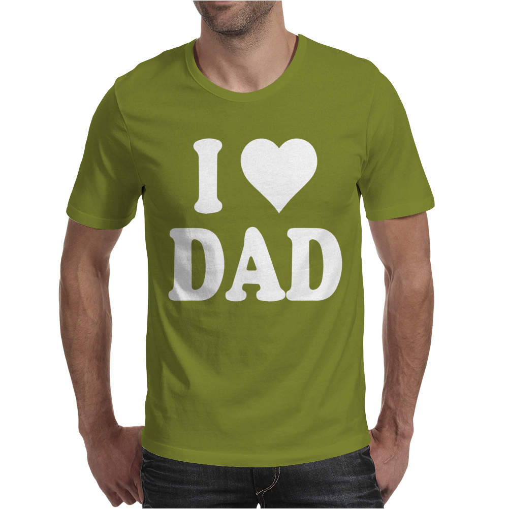 I HEART DAD Mens T-Shirt