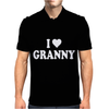 I HEART GRANNY Mens Polo
