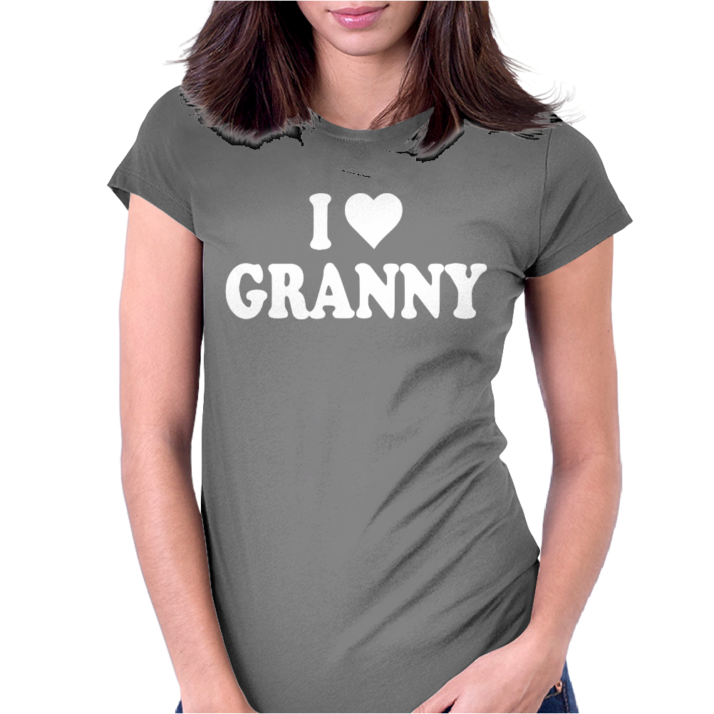 I HEART GRANNY Womens Fitted T-Shirt